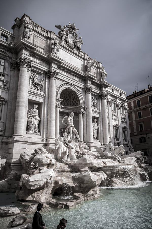 Fontana di Trevi o Fontana di Trevi al Trevi della piazza, Roma fotografie stock libere da diritti