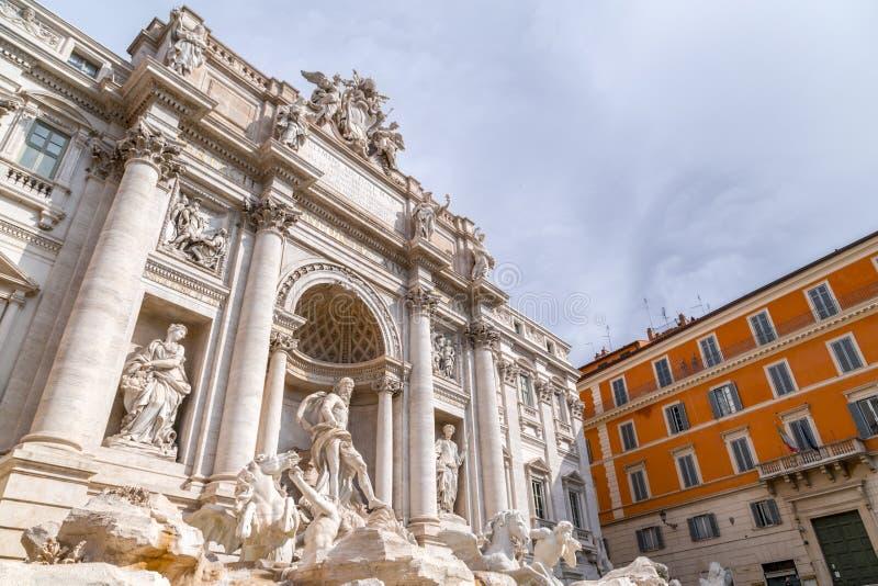 Fontana di Trevi o Fontana di Trevi al Trevi della piazza, Roma immagine stock libera da diritti