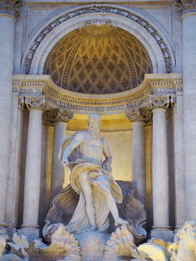 Fontana di Trevi, a popular tourist destination in Italy with beauty and elegance. Fountain rome city italian baroque roma travel architecture europe landmark stock photos