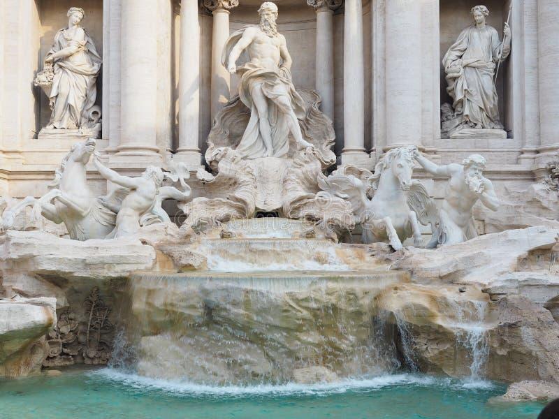 Fontana di Trevi, a popular tourist destination in Italy with beauty and elegance. Fountain rome city italian baroque roma travel architecture europe landmark royalty free stock photo