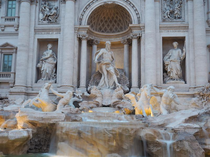 Fontana di Trevi, a popular tourist destination in Italy with beauty and elegance. Fountain rome city italian baroque roma travel architecture europe landmark stock images