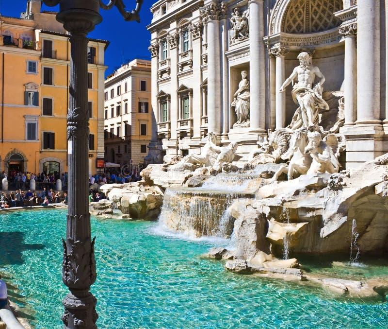 Fontana di Trevi a Roma immagine stock