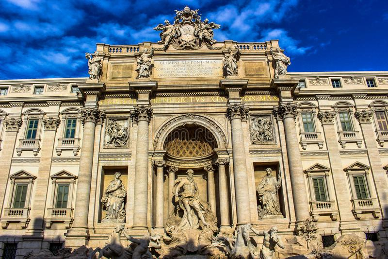 Fontana di Trevi - Roma fotografie stock