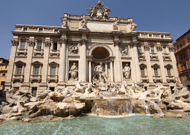 Fontana di Trevi a Roma, Italia fotografia stock libera da diritti