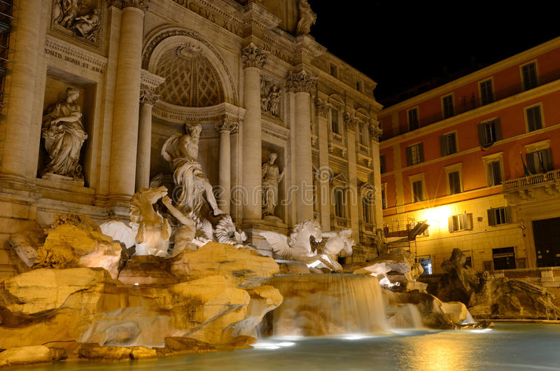 Fontana di Trevi, Rome arkivfoton