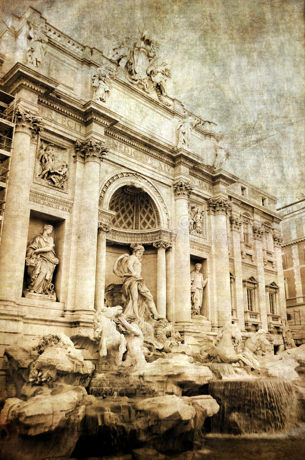 Download Fontana di Trevi, Rome stock image. Image of building - 26617643