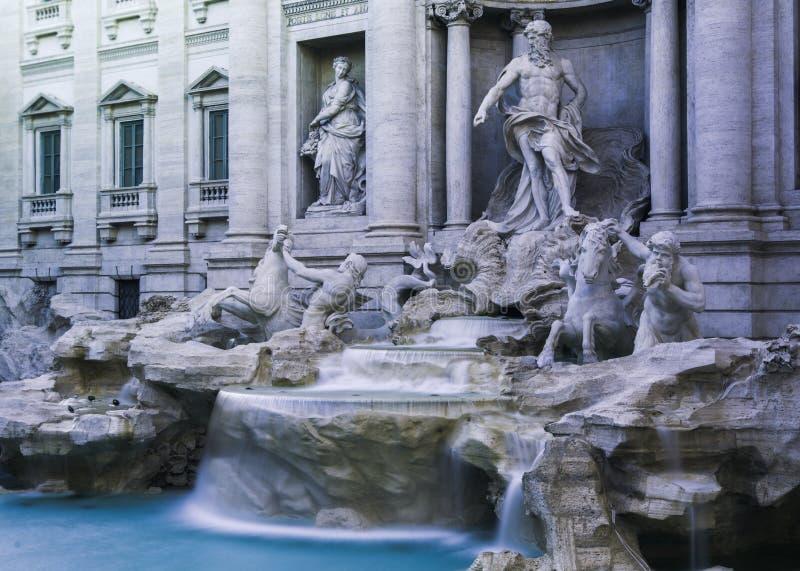 Fontana Di Trevi, Rome, Italië stock afbeeldingen