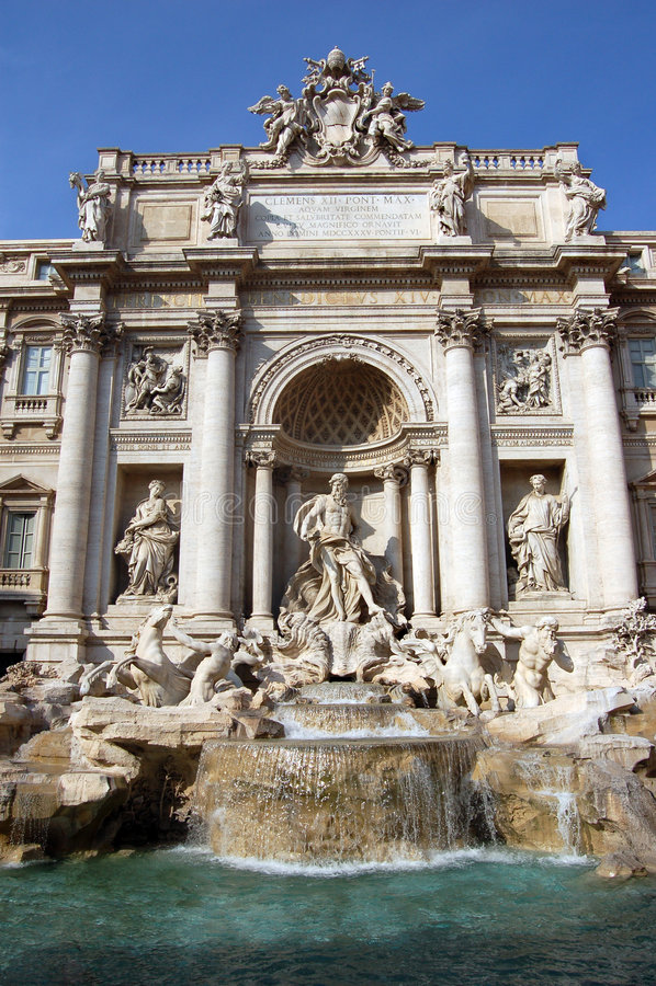 Fontana Di Trevi, Rome, Italy. Royalty Free Stock Photography