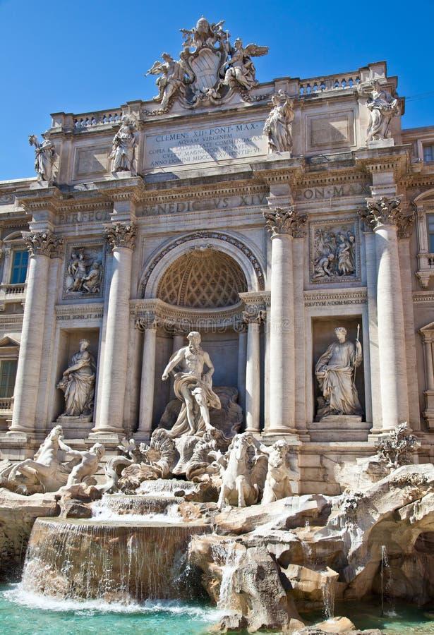 Fontana di Trevi - Rome, italy stock images