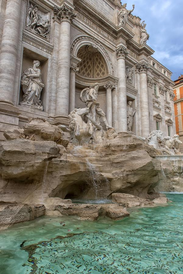 The Fontana di Trevi, Rome, Italy. Roma, Italy - 01.01.2018 .: The Fontana di Trevi, Rome, Italy royalty free stock images