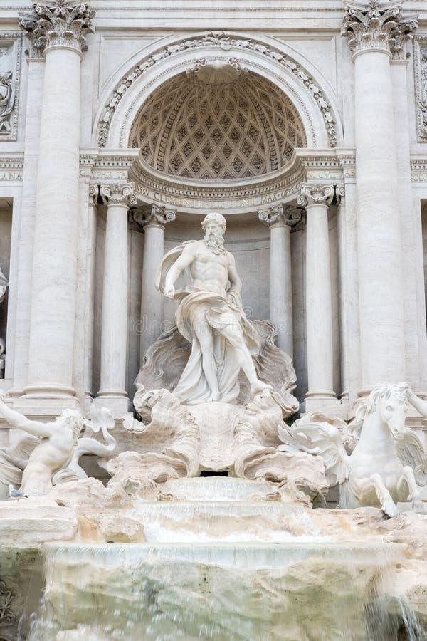 The Fontana di Trevi or Trevi Fountain. royalty free stock photography