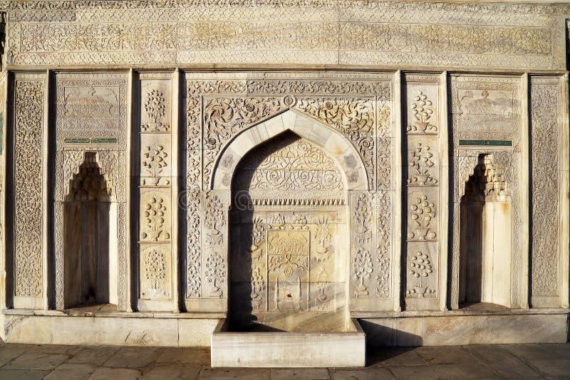 Fontana fatta a mano storica dell'ottomano immagine stock