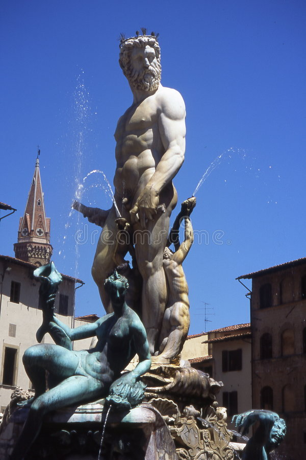 Fontana il Nettuno. fotografia stock