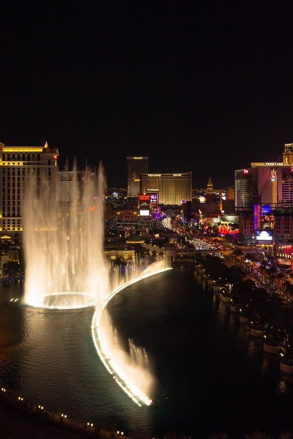 Fontana Las Vegas di Bellagio fotografia stock libera da diritti