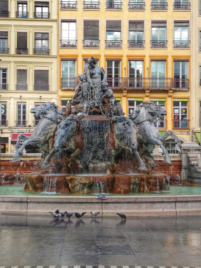 Fontana Lione immagini stock libere da diritti