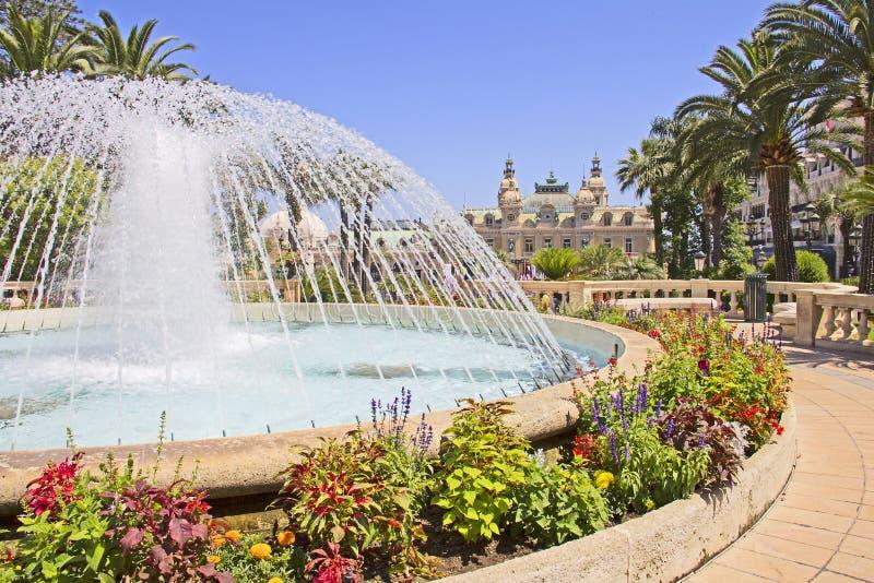 Fontana a Monte Carlo fotografie stock