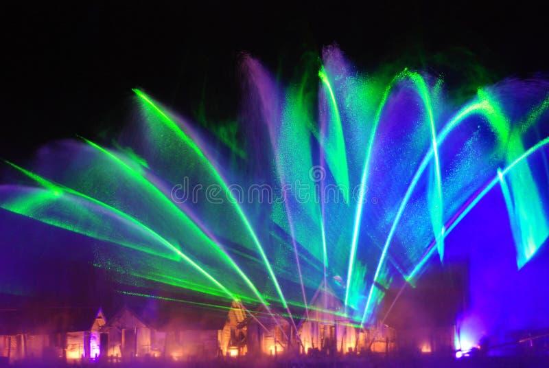 Fontana musicale in Sentosa Singapore fotografie stock