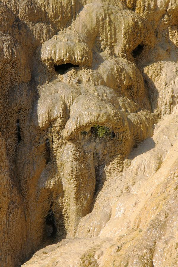 Fontana petrificata del sedimento di Réotier, Hautes-Alpes, Francia immagini stock libere da diritti