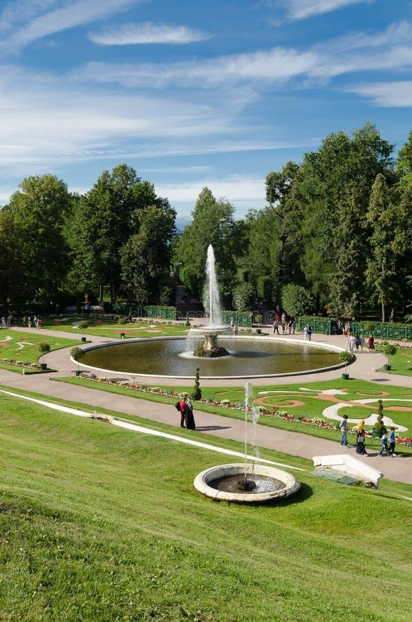 Fontana in Petrodvorets fotografie stock libere da diritti