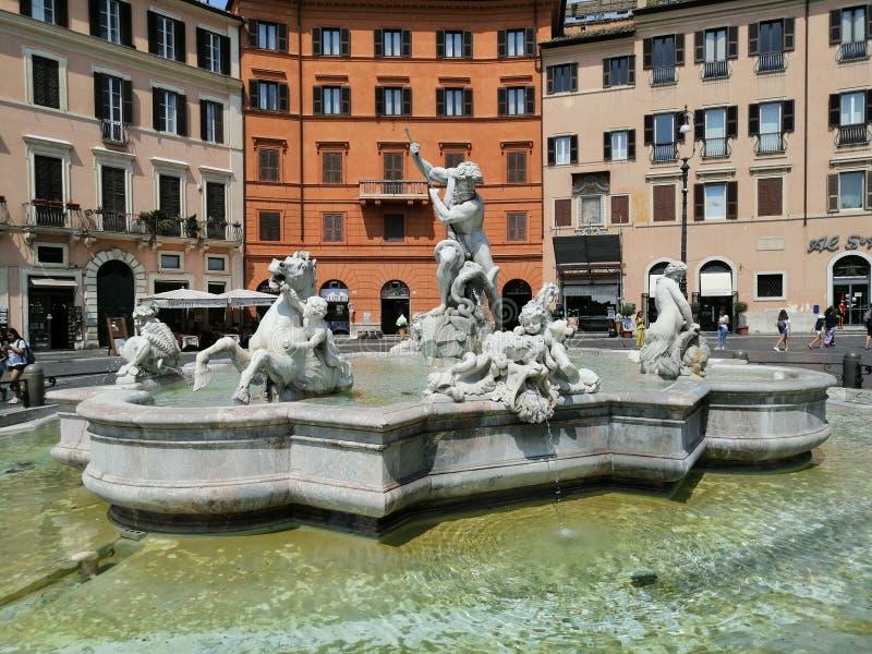 Fontana Piazza Navona immagini stock libere da diritti