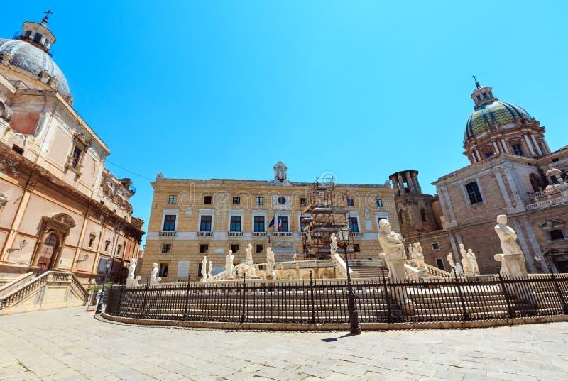 Fontana Pretoria, Palermo, Sicilia, Italia fotografia stock