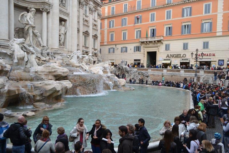 Fontana Trevi - sławny Rzym. zdjęcie stock