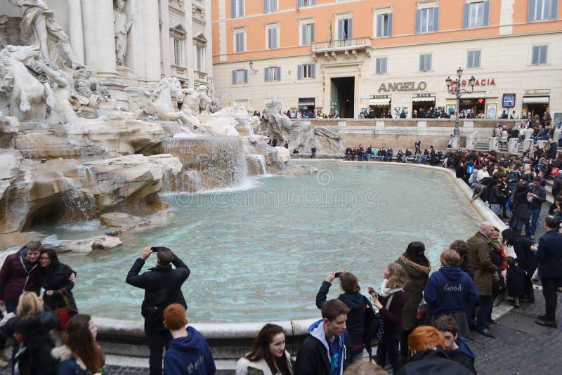 Fontana Trevi - sławny Rzym zdjęcia stock