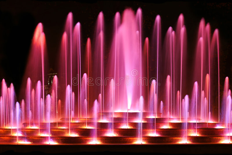 Fontana viola immagini stock libere da diritti