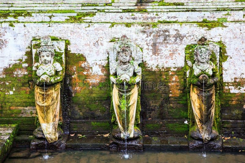 Fontane al tempiale di Goa Gajah, Bali, Indonesia fotografie stock