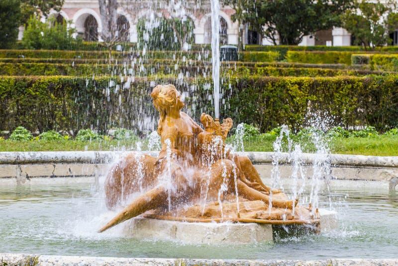 Fontane di Diana.Ornamental del palazzo di Aranjuez, Madrid, PS fotografia stock libera da diritti