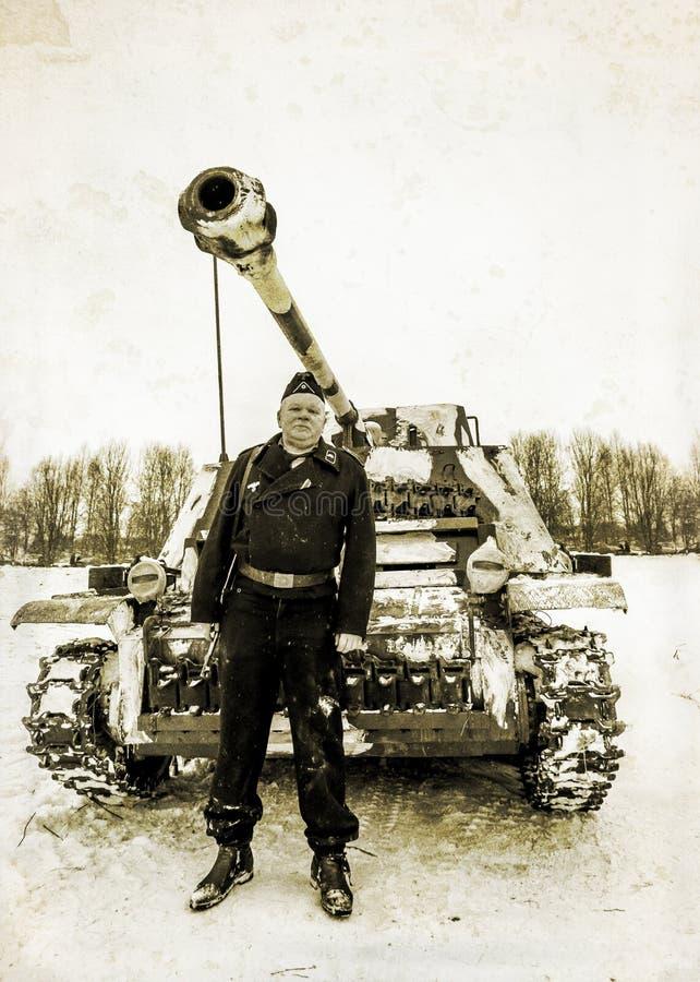 fontanka彼得斯堡rriver俄国st 2015年1月25日 Wehrmacht tankman 铁笔 库存图片