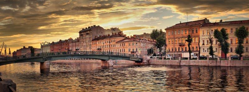 Fontanka Rzeczny bulwar w St Petersburg obraz royalty free