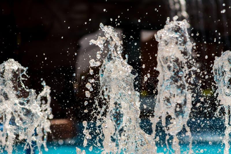 Fontann kiście, wod pluśnięcia obrazy stock