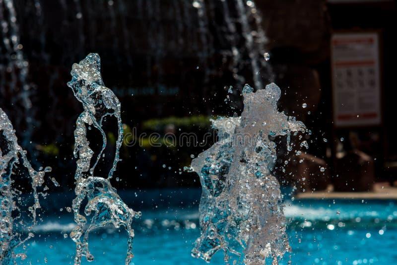 Fontann kiście, wod pluśnięcia zdjęcia royalty free