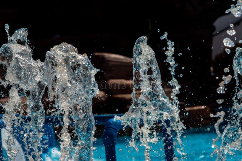 Fontann kiście, wod pluśnięcia obrazy royalty free