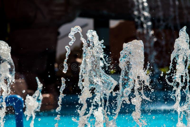 Fontann kiście, wod pluśnięcia zdjęcie stock