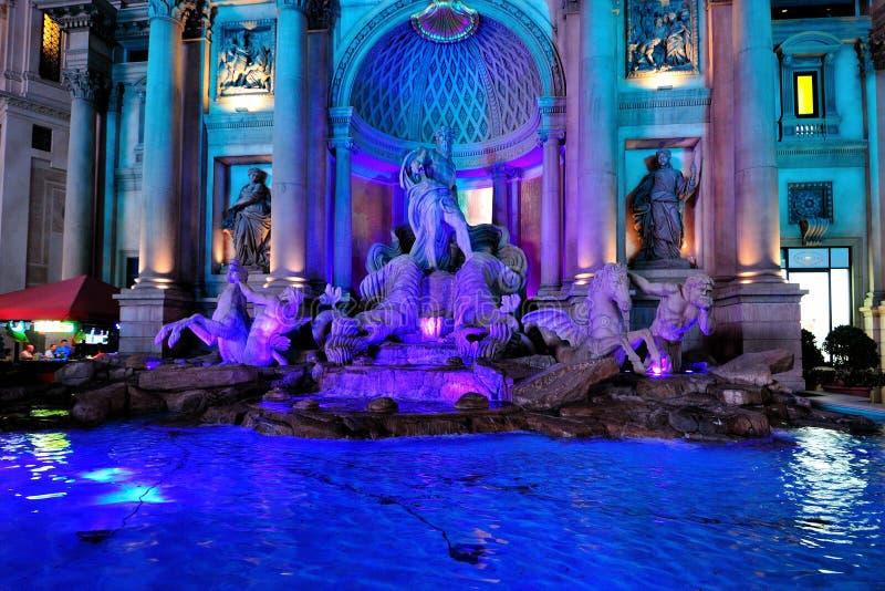 fontann las Neptune Vegas fotografia stock