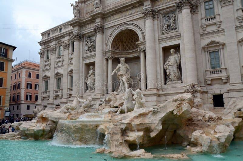 Fontanna De Trevi, Rzym, Włochy zdjęcia stock
