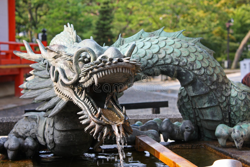 fontanna Japan obrazy royalty free
