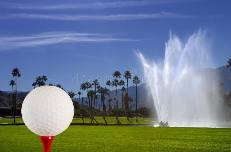 fontanna kursowy golf zdjęcia stock
