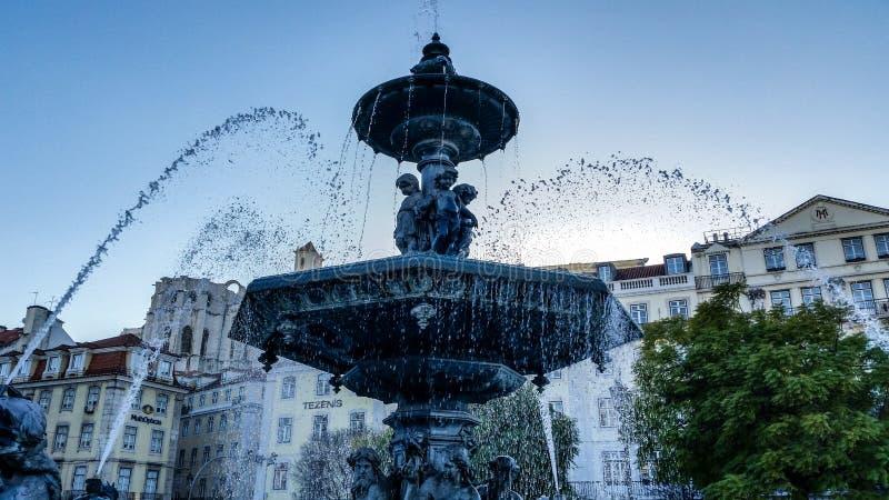 Fontanna Lisbon, Portugalia - zdjęcia stock