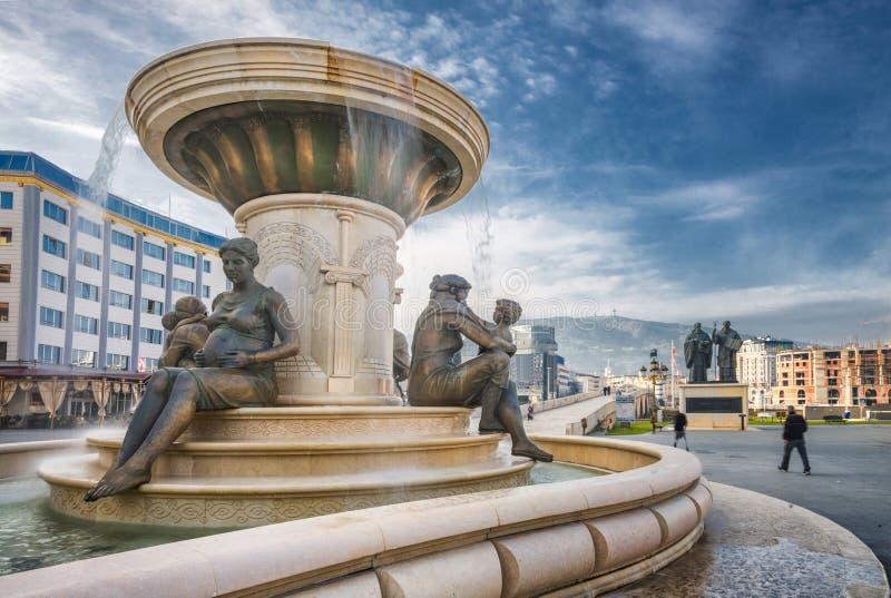 Fontanna matki Macedonia obrazy stock