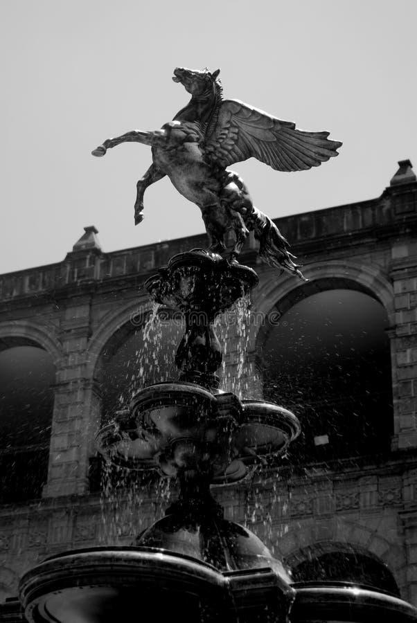 fontanna Mexico Pegasus zdjęcie royalty free