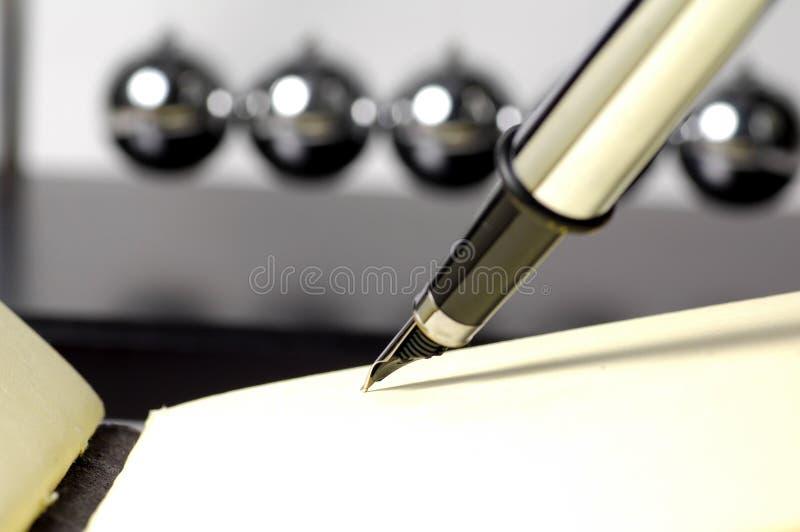 fontanna obrońcę długopis obraz royalty free