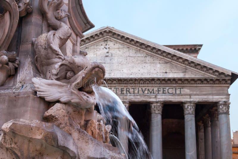 Fontanna panteon Fontana Del Panteon przed Romańskim panteonem II obraz royalty free