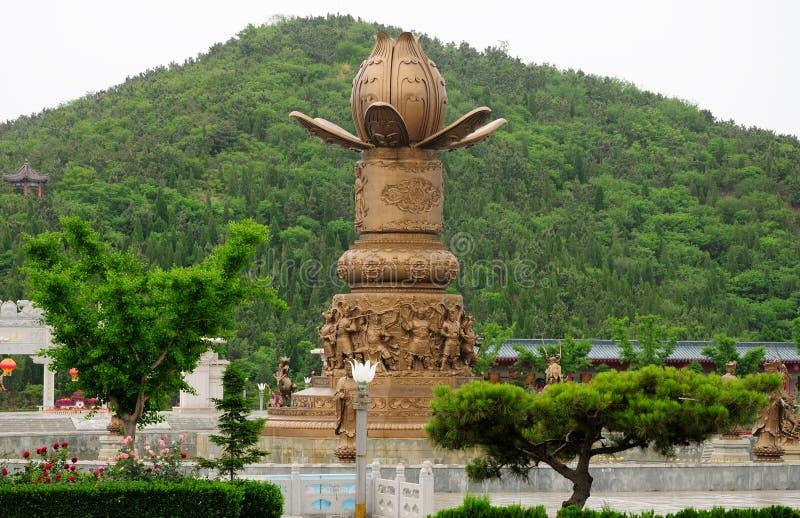 Fontanna przy Nanshan regionem turystycznym Chiny zdjęcie stock