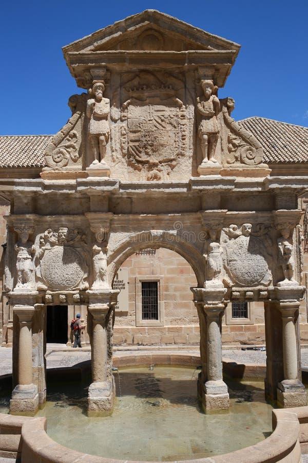 Fontanna Santa Maria od Baeza Hiszpania fotografia royalty free