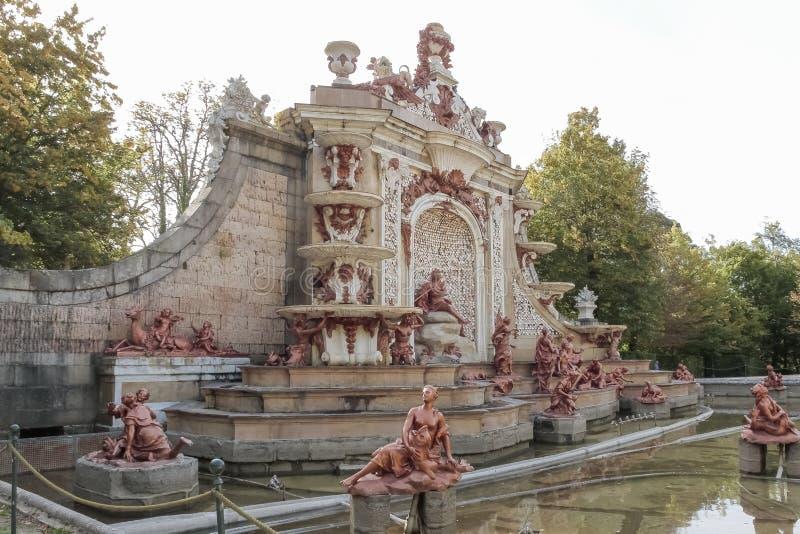 Fontanna skąpania Diana w ogródach los angeles Granja De San ja fotografia royalty free