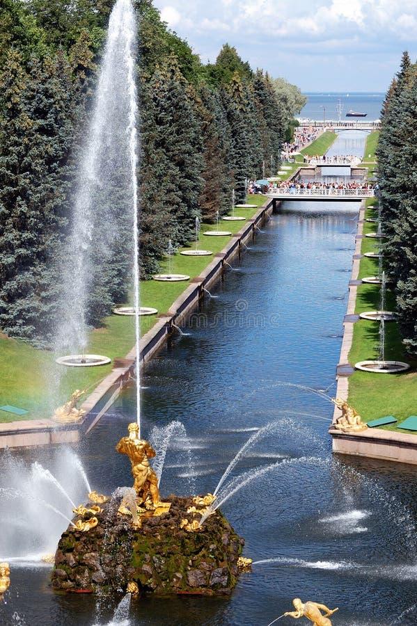 fontanna stary park obraz stock