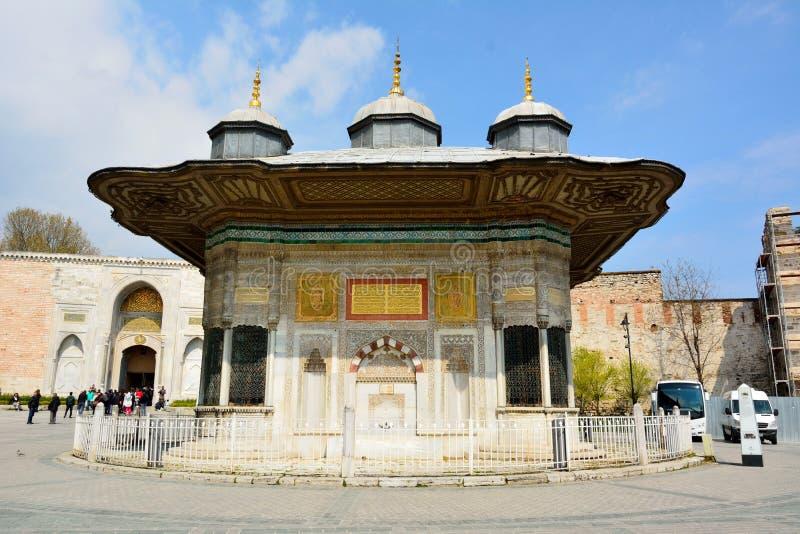 Fontanna sułtan Ahmed III w Istanbuł, Turcja obrazy stock